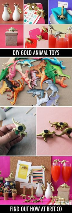 9 Things You Can Make with Gold Animal Toys 9 Things You Can Make with Gold Diy For Kids, Crafts For Kids, Fun Crafts, Diy And Crafts, Diy Magnets, Ideias Diy, Plastic Animals, Plastic Animal Crafts, Gold Diy