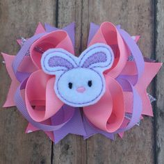 1st Easter - 1st Easter hair bow - Easter hair bow - Easter bow - Easter Boutique Bow - Bunny bow - bunny hair bow - spring hair bow - clip by BBgiftsandmore on Etsy