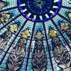 Stunning details up on the ceiling. Palacio Alberniz.