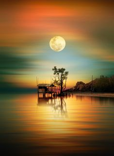 a good time for pray by iD's - Photo 231660057 / Beautiful Nature Wallpaper, Beautiful Moon, Beautiful Landscapes, Beautiful Images, Landscape Art, Landscape Paintings, Landscape Photography, Nature Photography, Nature Pictures