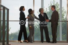 Stock Photo : Business executives shaking hands