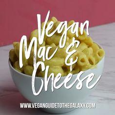 Vegan Mac and Cheese Recipe Vegan Recipes Videos, Vegan Recipes Easy, Whole Food Recipes, Fast Recipes, Recipes Dinner, Vegan Cru, Roh Vegan, Vegan Mac And Cheese, Dairy Free Mac And Cheese