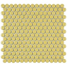 SomerTile Penny 3/4-in Vintage Yellow Porcelain Mosaic Tile (Pack of 10) 12.25x12-in | Overstock.com