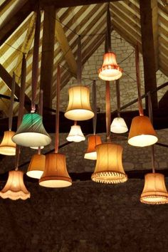 Lampshade Wedding Decor: 40 Unique Examples That Will Grab Your Guests' Attention - Makely You are in the right place about african wedding catering Here we offer you the most beautiful pictures about Barn Wedding Lighting, Event Lighting, Barn Lighting, Lighting Design, Lighting Ideas, Wedding Candelabra, Outdoor Lighting, Light Decorations, Wedding Decorations
