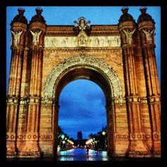 Arc de Triomf στην πόλη Barcelona, Cataluña