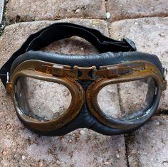 Steampunk Goggles Glasses lenses loops by oldjunkyardboutique