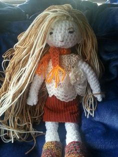 Handmade Crochet Doll 18in tall
