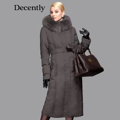 a15b1f1f1b3 Buy 2014 Limited Long New Duck Down Jacket Women Natural Fox Collar Thicken Plus  Size Winter Hooded on AliExpress