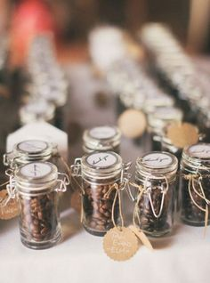 10 Cool Wedding Favor Ideas: Coffee beans