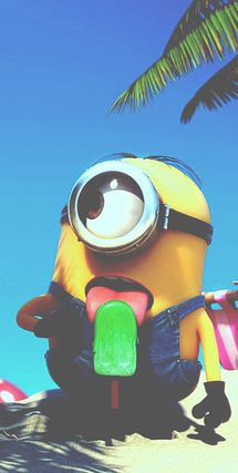 cute, delicious, ice cream, minion, despicable me, funny, mmmm 3, dspicable me2