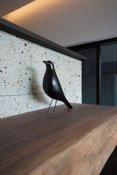 大谷石とウォールナットのカウンター Noodle Restaurant, Japanese Modern, Counter, Projects, Design, Houses, Log Projects, Blue Prints