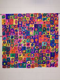 Kandinsky Collaborative Wall Art...it's my project from last year~ and will use this year