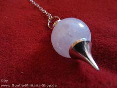 Pendel versilbert mit Rosenquarzkugel / mehr Infos auf: www.Guntia-Militaria-Shop.de
