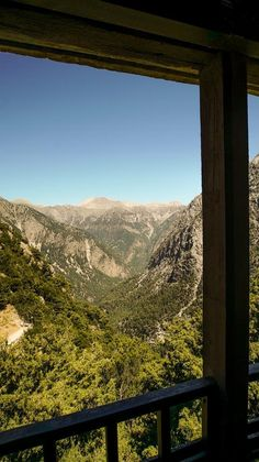 A View Of Mountains by Samaria Gorge in Crete Greece