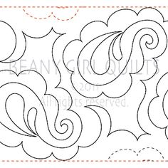 "Pretty Paisley - Paper -11"" - Quilts Complete - Continuous Line Quilting Patterns"