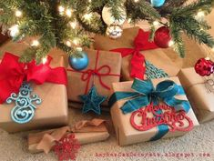 Brown paper packages tied up with strings.. Christmas Wrapping Ideas