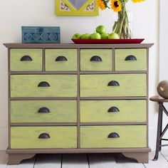 DIY Chalk Paint Furniture Ideas With Step By Step Tutorials - Chalk Finish Paint Dresser - How To Make Distressed Furniture for Creative Home Decor Projects on A Budget - Perfect for Vintage Kitchen, Dining Room, Bedroom, Bath http://diyjoy.com/chalk-paint-furniture-ideas