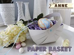 FREE cut files svg Easy Paper Easter Baskets | Saynotsweetanne.com