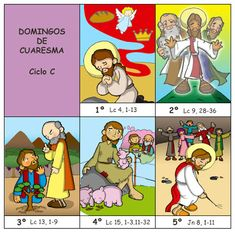 Dibujos para catequesis: Domingos de CUARESMA – Ciclo C Lucas 9, Première Communion, Bible For Kids, Sunday School, Blog, Family Guy, Clip Art, Fan Art, Poster