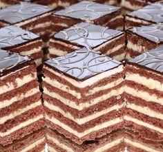 Stollwerck szelet - www.kiskegyed.hu Pastry Recipes, Cake Recipes, Dessert Recipes, Cooking Recipes, Hungarian Desserts, Hungarian Recipes, Chocolate Truffles, Chocolate Recipes, Non Plus Ultra