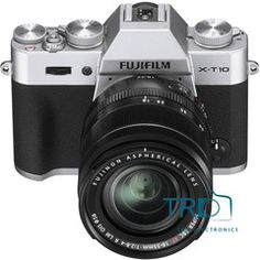 Fujifilm Mirrorless X-T10 Digital Camera with 18-55mm Lens (Silver)