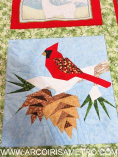 Paper-piecing Cardinal ****** Arco-Iris a Metro ****** Patchwork & Quilting em Portugal