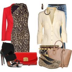 Two Outfits, One Theme: Leopard Print Contest #1