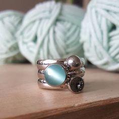 Twisted in Turqoise!  Photo credits: @corine_haakt #melano #jewelry #colouryourmoment #rings