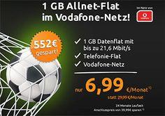 1GB Vodafone Allnet Flat für 6,99€ http://www.simdealz.de/vodafone/mobilcom-debitel-comfort-allnet/