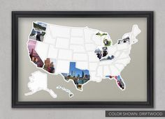 50 States Photo Map USA by MemorableMats on Etsy