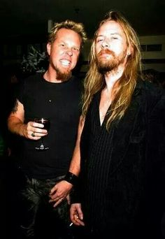 Jerry Cantrell with James Hetfield! Awesome photo!