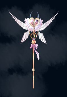 Adoptable wand Adopted by Please don't resell without my permission. Arte Digital Fantasy, Fantasy Art, Anime Weapons, Fantasy Weapons, Dessin Animé Lolirock, Bunny Girls, Les Lolirock, Armas Ninja, Magical Jewelry