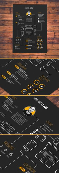 resume - Work inspo - Curriculum Vitae Present and discover creative work on the world's leading online platform for t Layout Cv, Layout Design, Web Design, Design Trends, Design Art, Cv Inspiration, Graphic Design Inspiration, Portfolio Resume, Portfolio Design