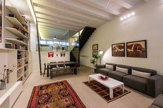 Zona de día   Maurici Serrahima - STANDAL Techo con volta catalana #salones #comedores #living #room #interior #design #carpet