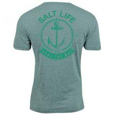 Salt Life Mens Seas The Day Triblend Tee Shirt Sea GreenSmall