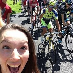 Katie Holroyde, a fan, took this selfie of the two Tour de France favourites from the side of the road in Leeds, England (July Selfies, Performance Cycle, Iconic Photos, Pro Cycling, Sport, Southern California, Tours, Instagram Posts, People