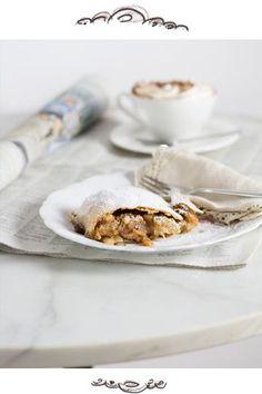 How to make Austrian Apple Strudel from scratch Apple Strudel, Apple Bread, Dessert Cake Recipes, No Bake Desserts, Granny's Recipe, Marinated Salmon, Apple Filling, English Food, Deserts