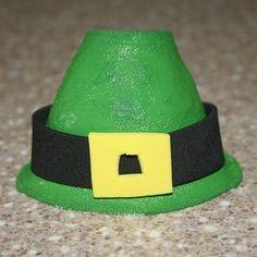 Styrofoam Leprechaun Hat Craft