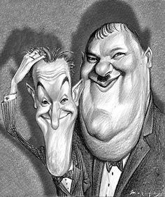 laurel and hardy by CHESE Ilustraciones,