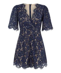 Love this Darling London Navy Lace Luisa Romper by Darling London on #zulily! #zulilyfinds