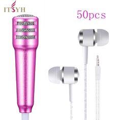 >> Click to Buy <<  50PCS/LOT Portable Mini Perfume Condenser Microphones & Earphones Handheld Karaoke KTV Wired Small Recorder singing TW-823-50 #Affiliate
