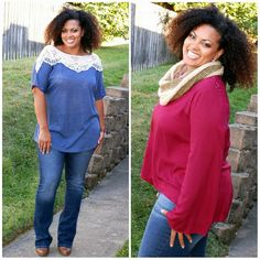 So many cute new curvy items available at www.pinkslateboutique.com Ruffle Blouse, Peplum, Curvy, Collection, Tops, Fashion, Moda, Fasion, Veil