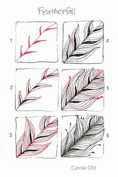 DIY How to Draw a Feather via Open Seed Arts: Featherfall