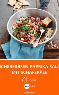Kichererbsen-Paprika-Salat mit Schafskäse - smarter - Kalorien: 374 Kcal - Zeit: 25 Min. | eatsmarter.de