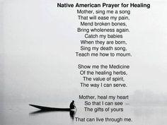 Native American Prayer for Healing