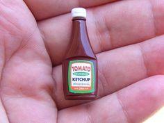 Miniature tomato ketchup #miniaturefood