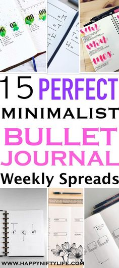 minimalist bullet journal page ideas for busy people