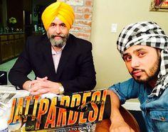 #JaspreetSinghAttorney at law USA and #AmanJhajj during a movie scene in upcoming Punjabi movie #JattPardesi. Coming soon