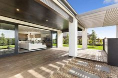 Shaded outdoor space and barbeque zone of the Aussie home