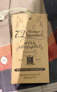 Vintage Diamonds #hangtag